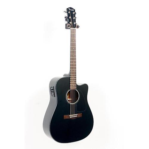 Fender CD140SCE Acoustic-Electric Guitar Black 888365470153