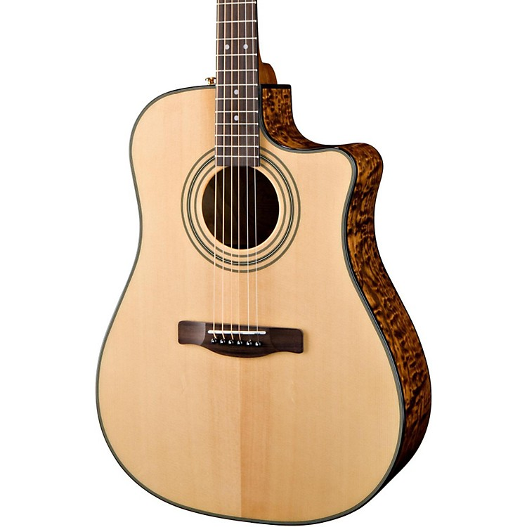Fender CD220SCE Exotics Ash Burl Acoustic-Electric Guitar Natural