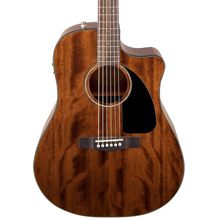 Fender CD60CE All Mahogany Acoustic Electric Guitar Natural