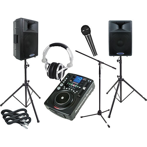 American Audio CDI500MP3/DLS15P Mobile Scratch DJ Package-thumbnail