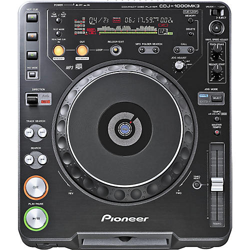 pioneer cdj 1000mk3 cd mp3 player musician 39 s friend. Black Bedroom Furniture Sets. Home Design Ideas
