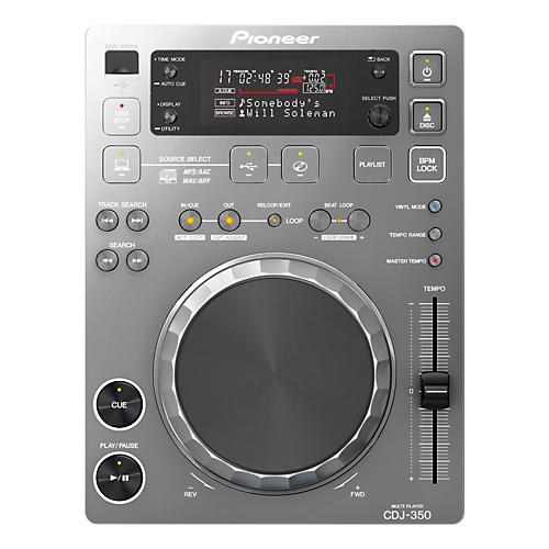 Pioneer CDJ-350 Digital Multi Player (Silver)-thumbnail