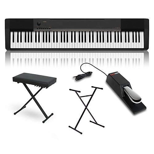 casio cdp 130 digital piano with stand sustain pedal and. Black Bedroom Furniture Sets. Home Design Ideas