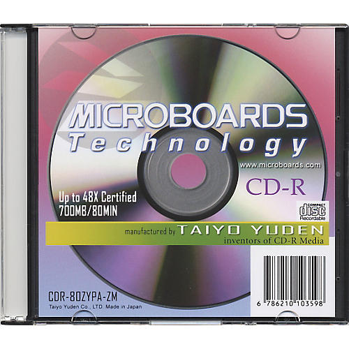 Microboards CDR-80 48X CDR with Slimline Jewel Case-thumbnail