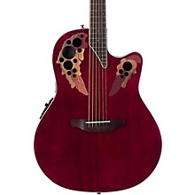 Ovation CE48 Celebrity Elite Acoustic-Electric Guitar Transparent Ruby Red