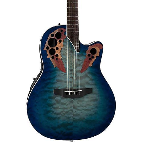 Ovation CE48P Celebrity Elite Plus Acoustic-Electric Guitar Transparent Regal to Natural