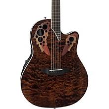 CE48P Celebrity Elite Plus Acoustic-Electric Guitar Transparent Tiger Eye