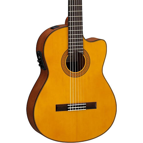 yamaha cgx122msc solid spruce top acoustic electric classical guitar natural musician 39 s friend. Black Bedroom Furniture Sets. Home Design Ideas