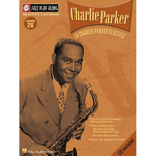 Hal Leonard CHARLIE PARKER - JAZZ PLAY-ALONG VOLUME 26 BK/CD