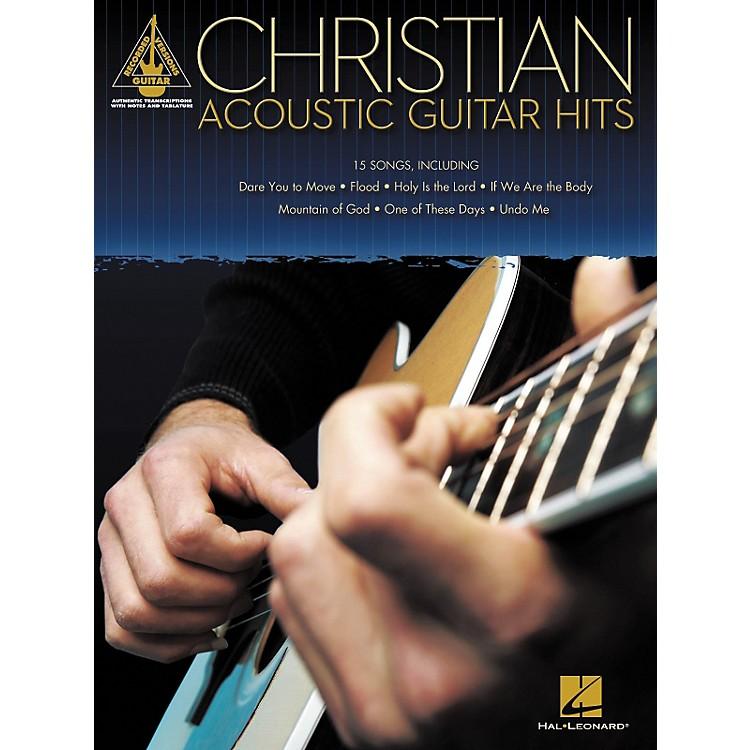 Hal LeonardCHRISTIAN ACOUSTIC GUITAR HITS GUITAR TAB SONGBOOK