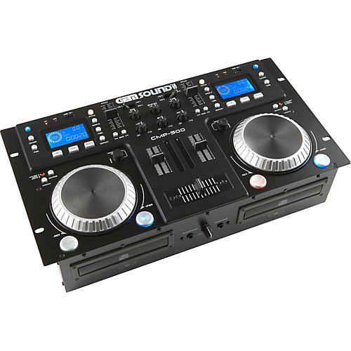 Gem Sound CMP500 Dual CD MP3 USB Player with Mixer