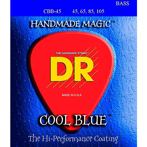 DR Strings COOL BLUE COATED 4 STRING BASS MEDIUM (45-105)