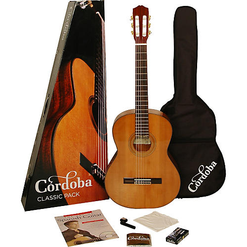 Cordoba CP110 Acoustic Nylon String Classical Guitar Pack