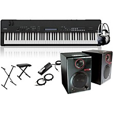 Yamaha CP40 Stage 88-Key Stage Piano with RPM3 Monitors, Stand, Headphones, Bench and Sustain Pedal