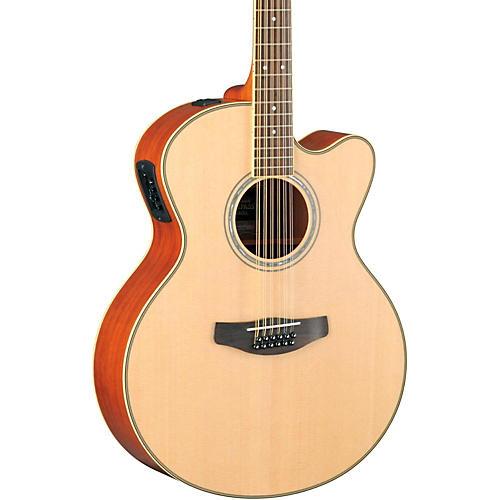 Yamaha CPX700II-12 Medium-Jumbo 12-String Cutaway Acoustic-Electric Guitar Natural
