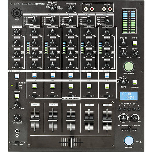 Gemini CS-02 Professional 5-Channel Stereo DJ Mixer