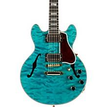 CS-356 3A Quilt Semi-Hollowbody Electric Guitar Aqua Blue