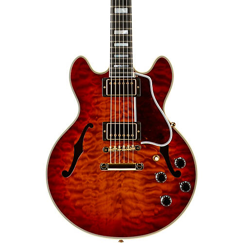 Gibson Custom CS-356 3A Quilt Semi-Hollowbody Electric Guitar-thumbnail
