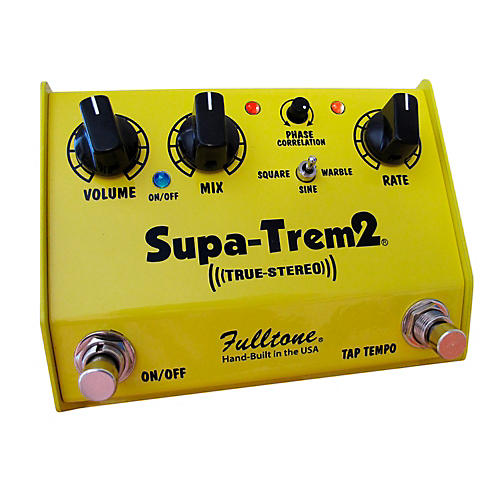 Fulltone Custom Shop CS Supa-Trem2 Stereo Tremolo w/ Tap Tempo Guitar Effects Pedal-thumbnail
