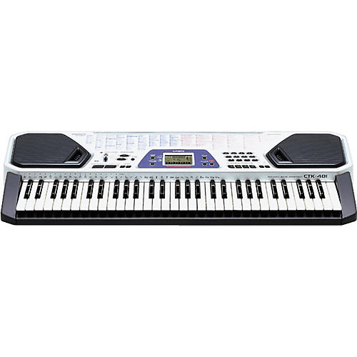 Casio CTK-481 61-Key Portable Silver Keyboard-thumbnail