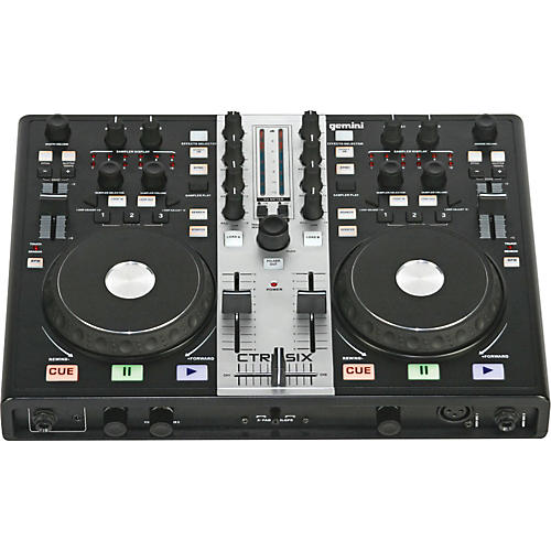 gemini ctrl six usb dj mixer controller with audio interface musician 39 s friend. Black Bedroom Furniture Sets. Home Design Ideas