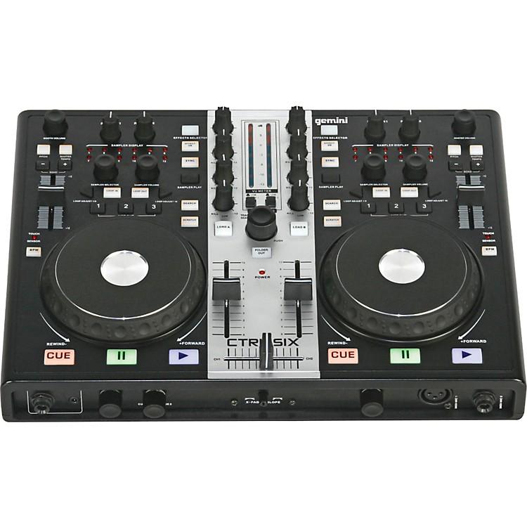 GeminiCTRL-SIX USB DJ Mixer/Controller with Audio Interface