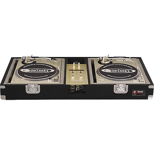 Odyssey CVX06BM Carpeted Case For Vestax PMC-06PRO Mixer And 2 Turntables-thumbnail