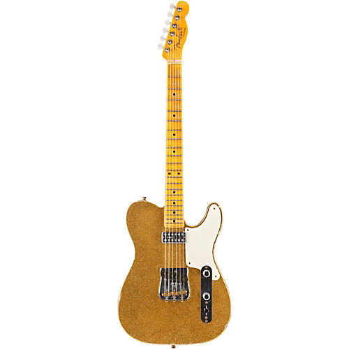 Fender Custom Shop Caballo Tono Telecaster Electric Guitar Aged Gold Sparkle