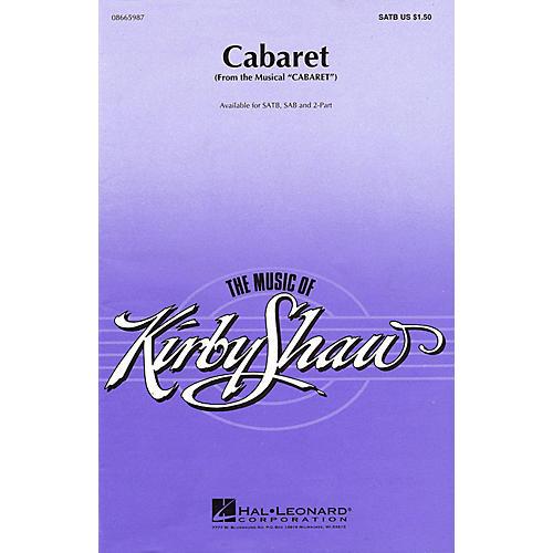 Hal Leonard Cabaret SATB arranged by Kirby Shaw