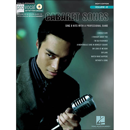 Hal Leonard Cabaret Songs - Pro Vocal Songbook for Male Singers Volume 49 Book/CD