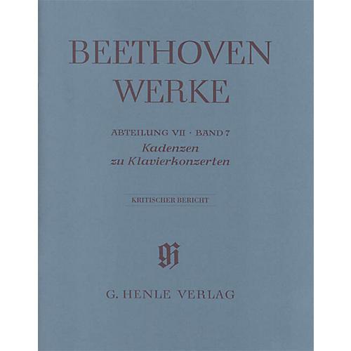 G. Henle Verlag Cadenzas in the Piano Concertos Henle Edition by Beethoven Edited by Joseph Schmidt-Görg
