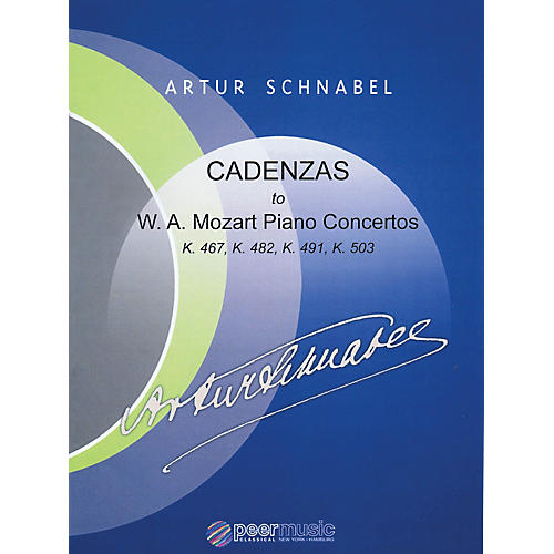 Peer Music Cadenzas to Mozart Piano Concertos, K. 467, K. 482, K. 491, K. 503 Peermusic Classical by Schnabel-thumbnail