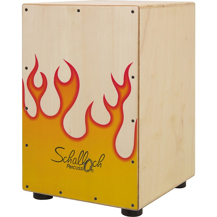 Schalloch Cajon with Flames Natural