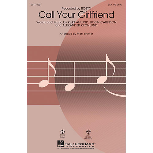 Hal Leonard Call Your Girlfriend (SSA) SSA by Robyn arranged by Mark Brymer-thumbnail
