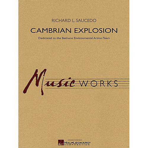 Hal Leonard Cambrian Explosion (Full Score) Concert Band Level 5 Composed by Richard L. Saucedo-thumbnail