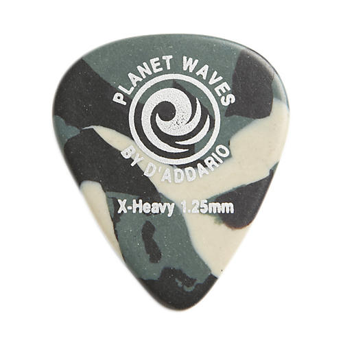 D'Addario Planet Waves Camouflage Celluloid Guitar Picks Extra Heavy 25 Pack