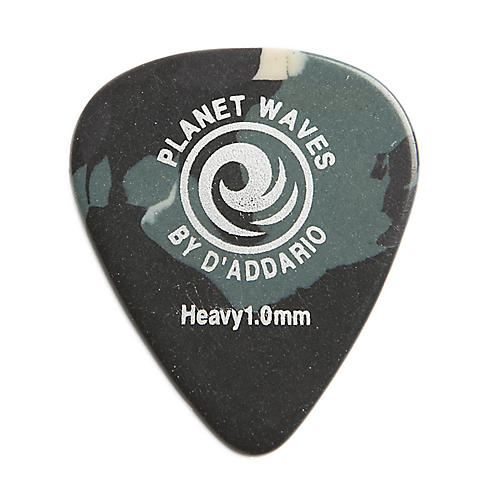 D'Addario Planet Waves Camouflage Celluloid Guitar Picks Heavy 25 Pack