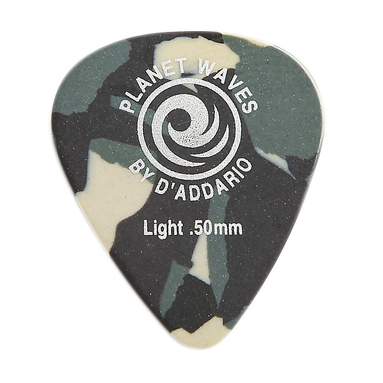 Planet Waves Camouflage Celluloid Guitar Picks Light 10 Pack