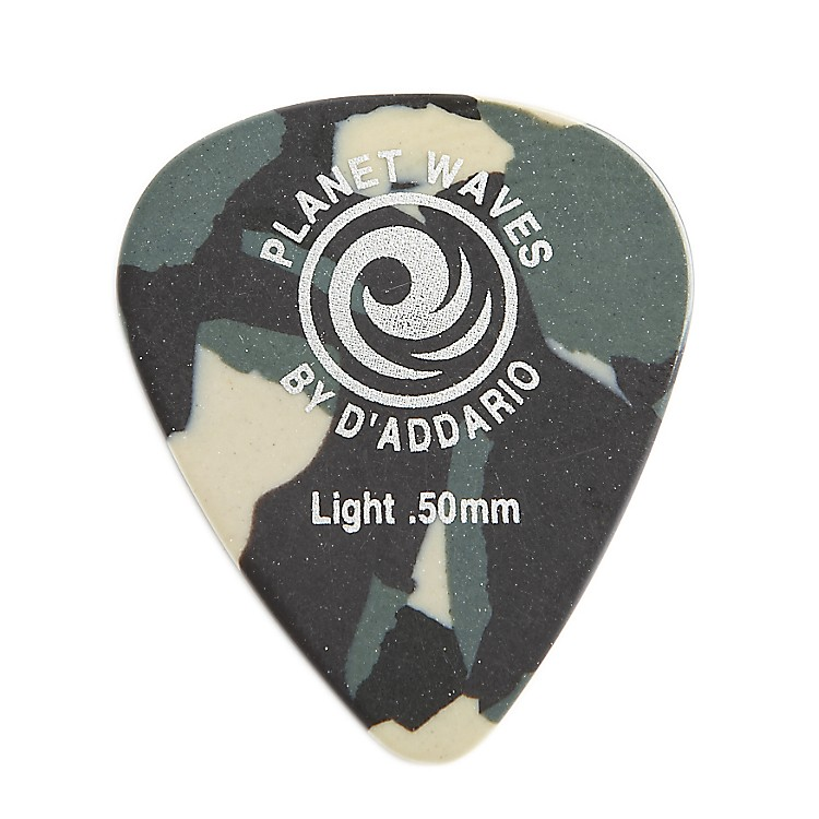 Planet Waves Camouflage Celluloid Guitar Picks Light 25 Pack