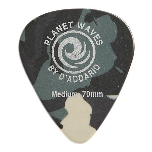 D'Addario Planet Waves Camouflage Celluloid Guitar Picks Medium 25 Pack