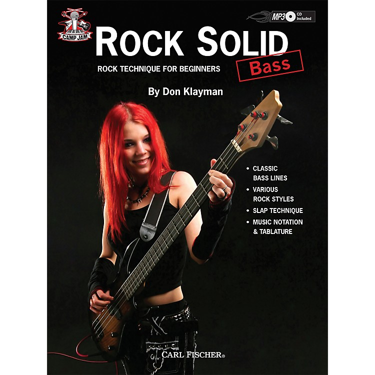 Carl Fischer Camp Jam: Rock Solid for Bass Book/CD