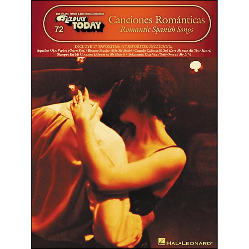 Hal Leonard Canciones Romanticas - Romantic Spanish Songs E-Z Play 72