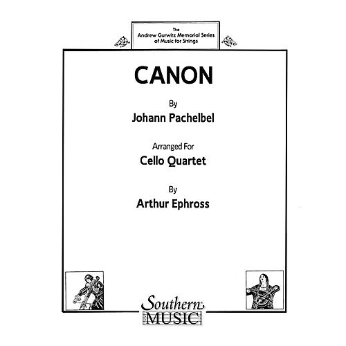 Southern Canon (Cello Quartet) Southern Music Series Arranged by Arthur Ephross-thumbnail