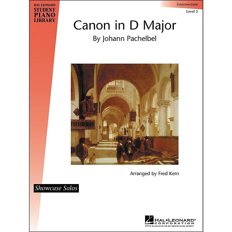Hal LeonardCanon In D Major By Johann Pachelbel Showcase Solo Intermediate Level 5 Hal Leonard Student Piano Library by Fred Kern