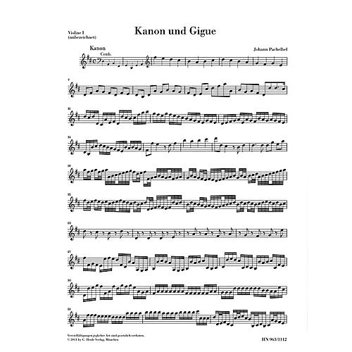 G. Henle Verlag Canon and Gigue for Three Violins and Basso Continuo in D Maj Henle Music by Pachelbel Edited Mullemann-thumbnail
