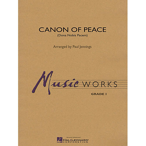 Hal Leonard Canon of Peace (Dona Nobis Pacem) Concert Band Level 1 Arranged by Paul Jennings-thumbnail