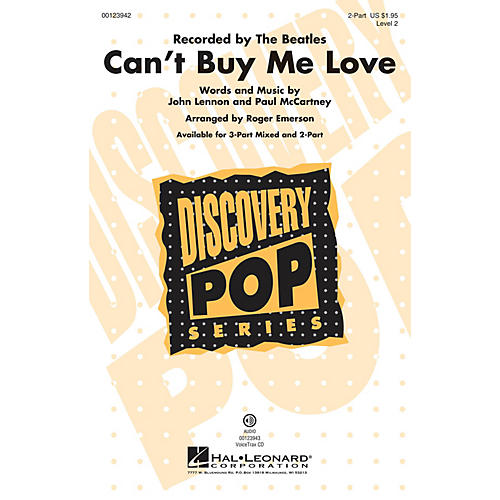 Hal Leonard Can't Buy Me Love (Discovery Level 2) 2-Part by The Beatles arranged by Roger Emerson-thumbnail