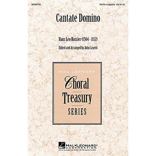 Hal Leonard Cantate Domino SATB a cappella arranged by John Leavitt-thumbnail