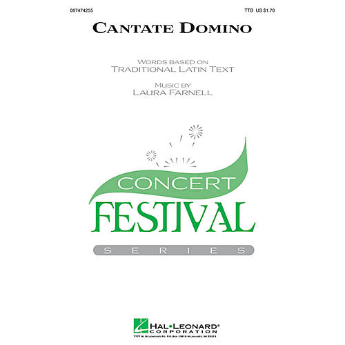 Hal Leonard Cantate Domino TTB composed by Laura Farnell-thumbnail