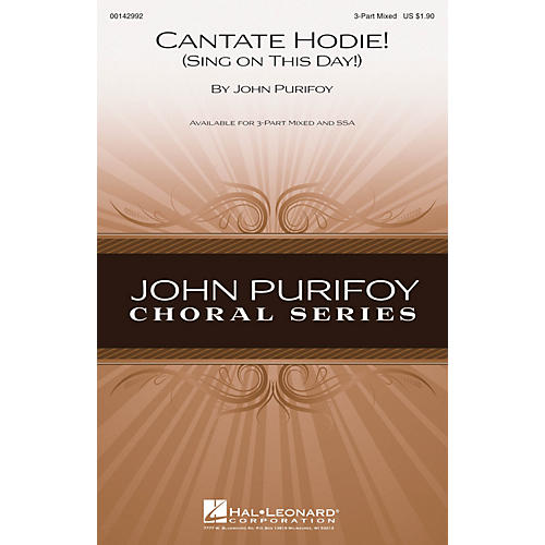 Hal Leonard Cantate Hodie! (Sing on This Day!) SSA Composed by John Purifoy